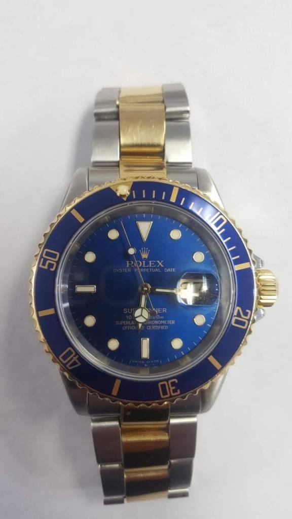 Rolex Submariner acero oro azul original
