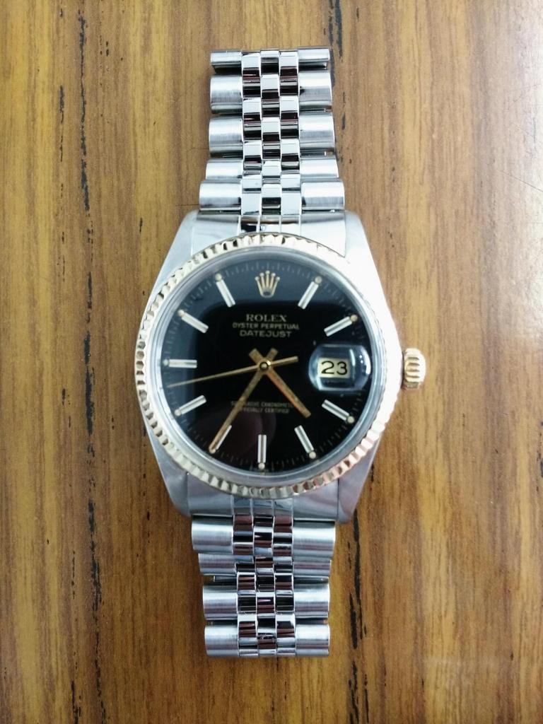 Rolex datejust classic acero oro negro original