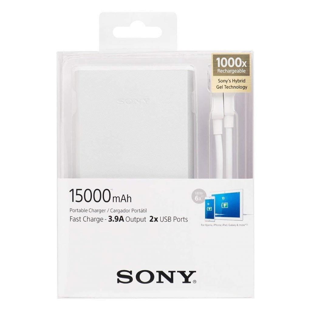 Cargador Portatil Sony  Mah Carga Rapida Color Plata