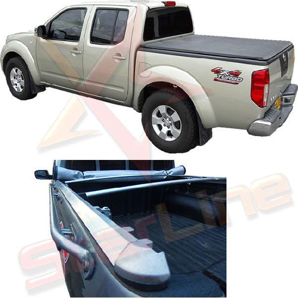 Carpa Plana Nissan Navara Lona Con Marca Enrollable Riel