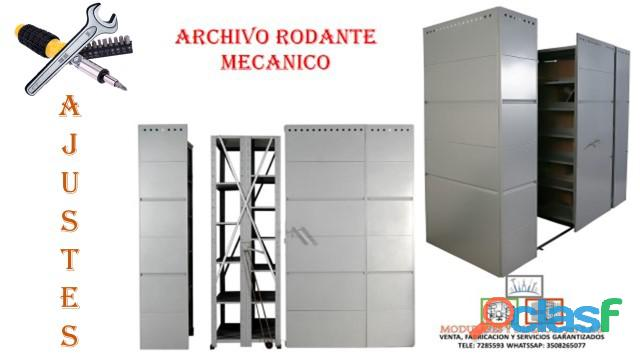 MANTENIMIENTO CORRECTIVO DE ARCHIVOS RODANTES.