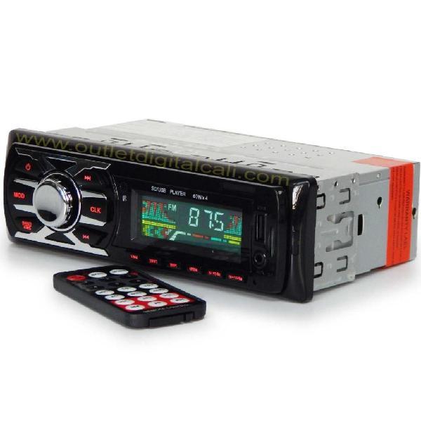 Radio Para Carro con Entrada USB auxiliar control remoto