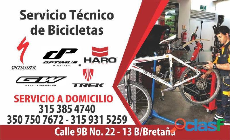 Reparacion y mantenimiento de bicicletas a domicilio en cali