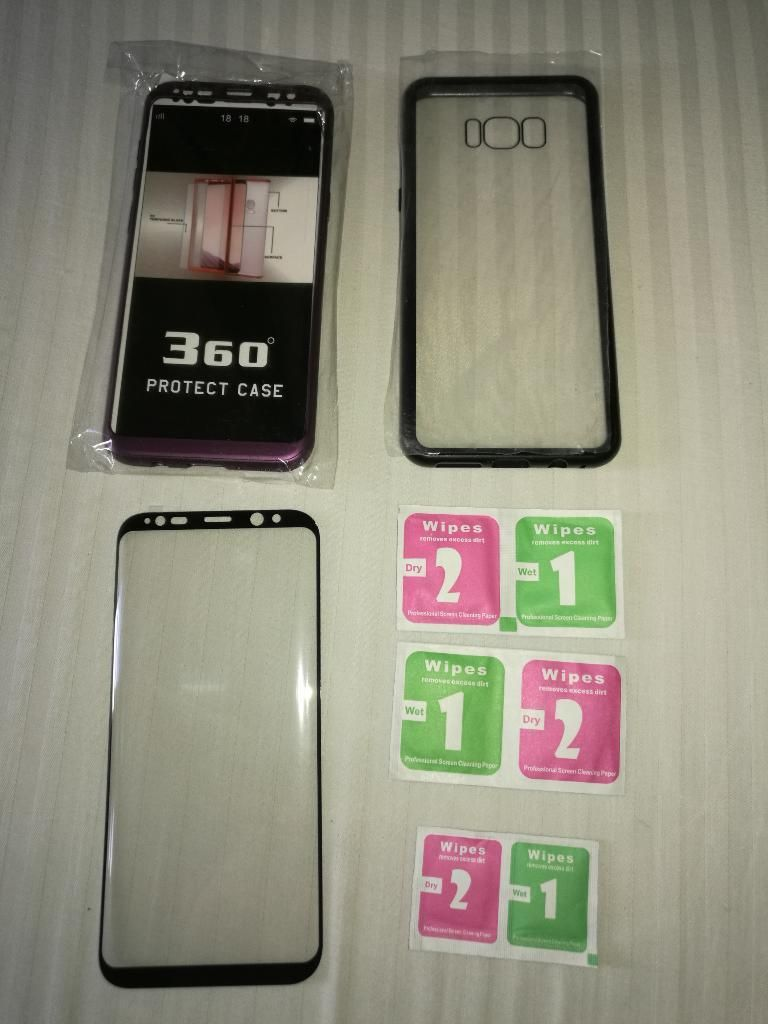 S8 Plus Carcasa Magnética, 360 Vidrio 5d