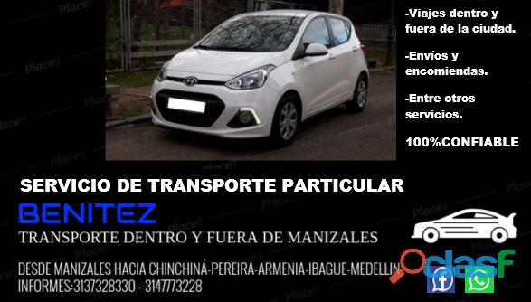 Servicio de transporte particular desde la ciudad de