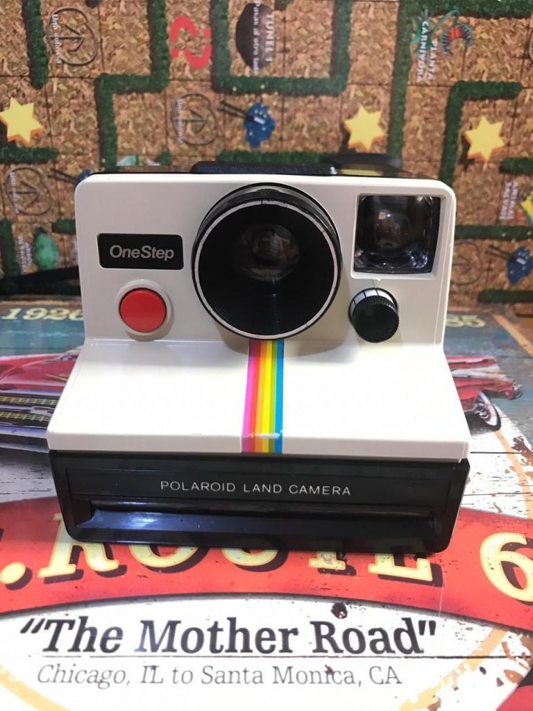 Camara Antigua Polaroid One Step Boton Rojo Usada Colección