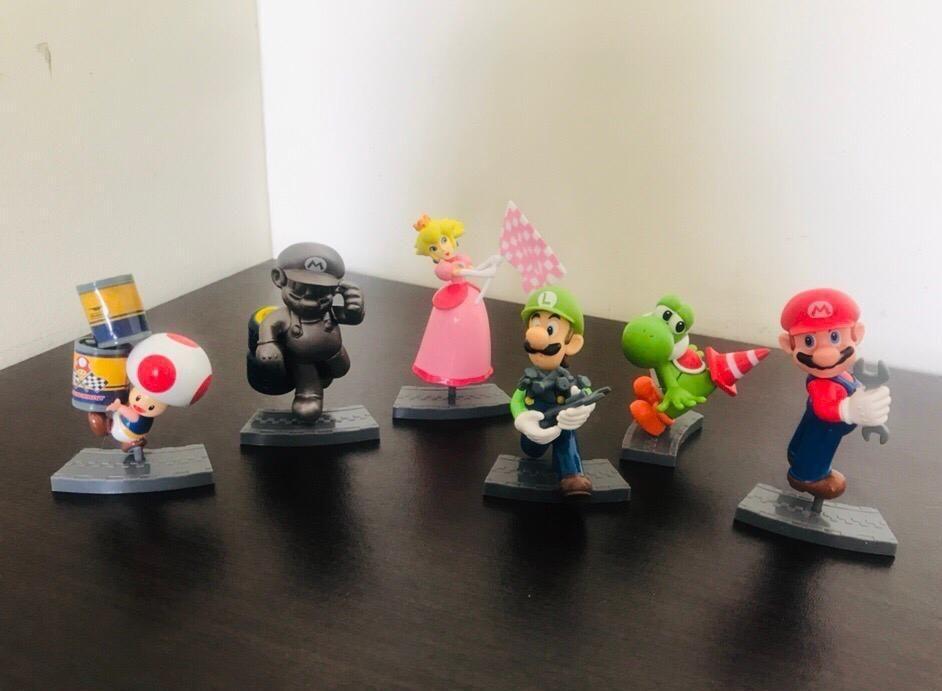 Figuras Coleccion Mario Bros Kart Pits