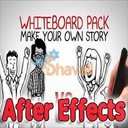 sku518 AFTER EFFECTS PROYECT WHITEBOARD PACK MAKE YOUR OWN
