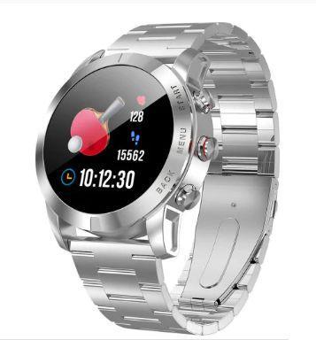 Reloj inteligente NO 1 S10 Correa de acero plateada