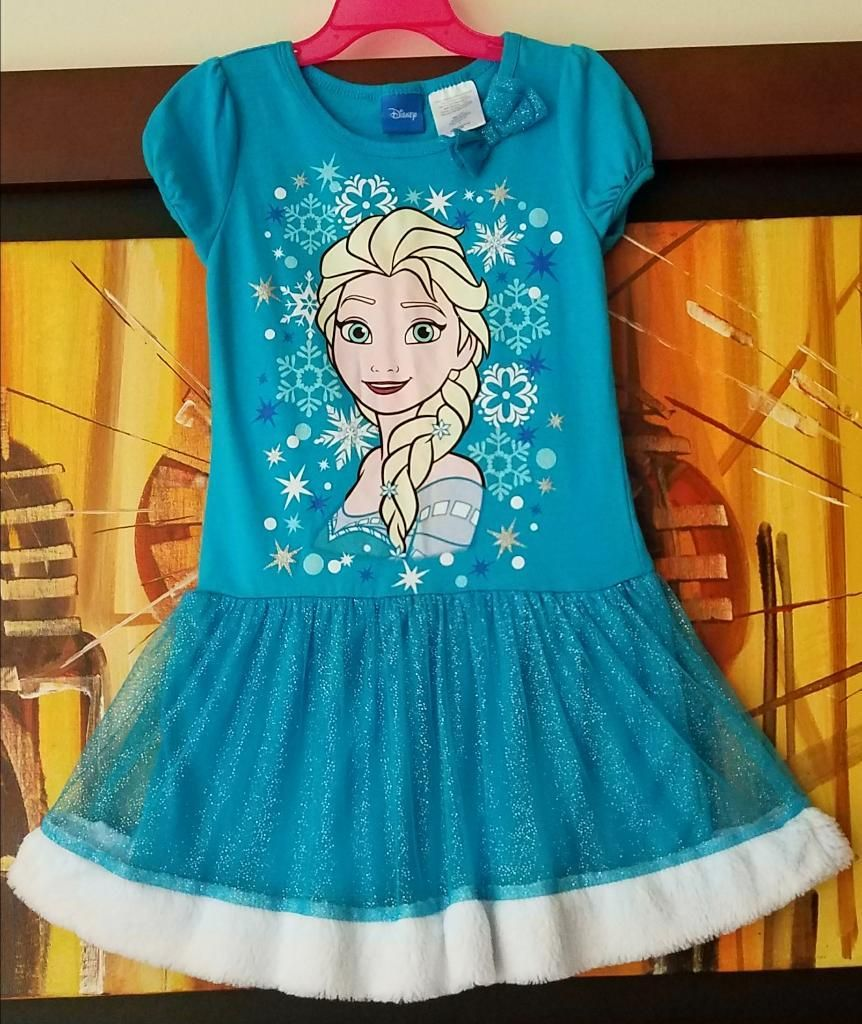 Vestido Frozen Elsa Talla 3t Marca Disney Original Posot Class
