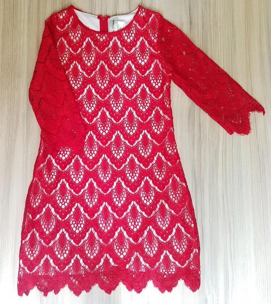 Vestido Rojo Elegante Para Niña Talla 10 Ropa Americana