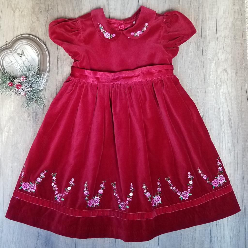 Vestido Rojo Para Niña Talla 3T Marca Americana