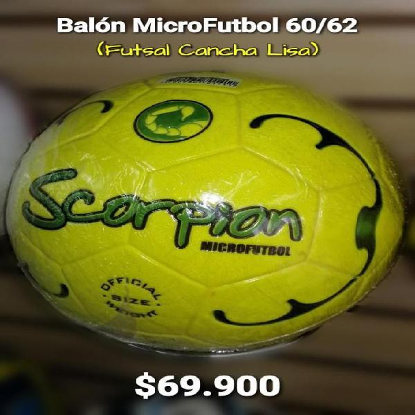 BALON MICROFUTBOL FUTSAL CANCHA LISA