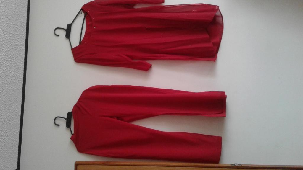 Vestido de Cóctel o Fiesta rojo talla 12 adulto