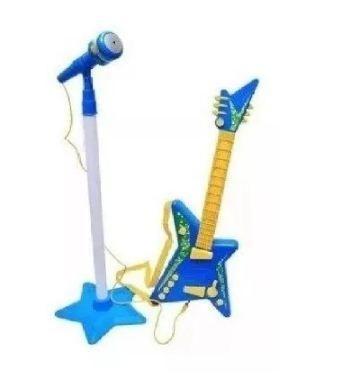Guitarra Kit Rock Star Microfono Karaoke Juguete