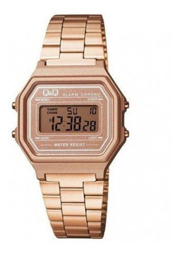 Reloj Q&q Retro Oro Rosa Mujer Envio Gratis