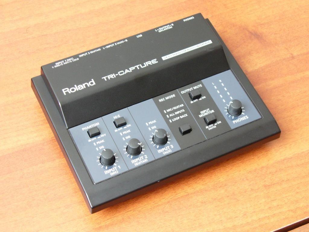 Roland TriCapture interface de audio usb  SUPERTECLADOS