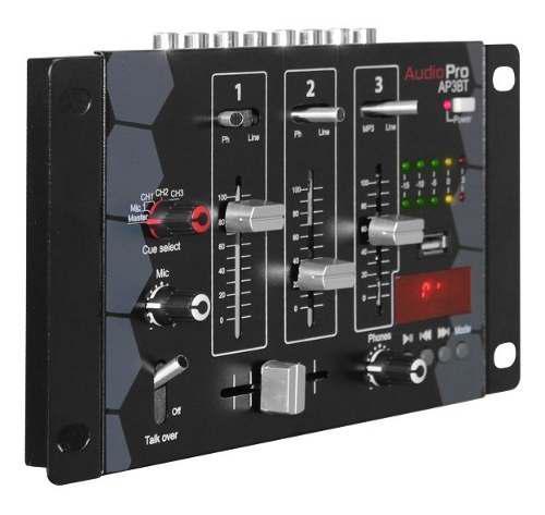 Mezclador Mixer De Audio 3 Canales Ap3bt Audiopro Bluetooth