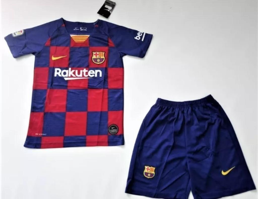 Camiseta Y Pantaloneta Barcelona Niño