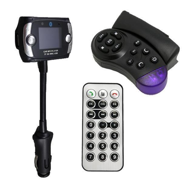 Transmisor Fm Stereo Musica Mp3 Bluetooth Celular Microfono