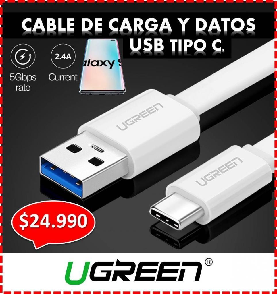 CABLE USB TIPO C - UGREEN, PARA TU SAMSUNG S8, S9, S10 O