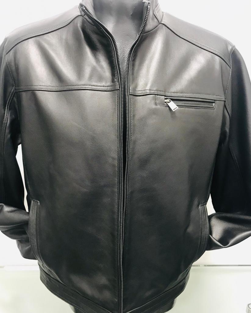Chaqueta Boston Harbour,black,talla L, original,100% Cuero