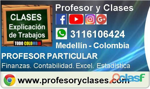 Clases de Finanzas a domicilio en Medellin Profesor