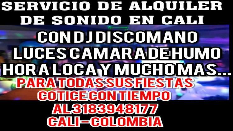 ALQUILER DE SONIDO EN CALI CON DJ DISCOMANO PARA TODAS TUS