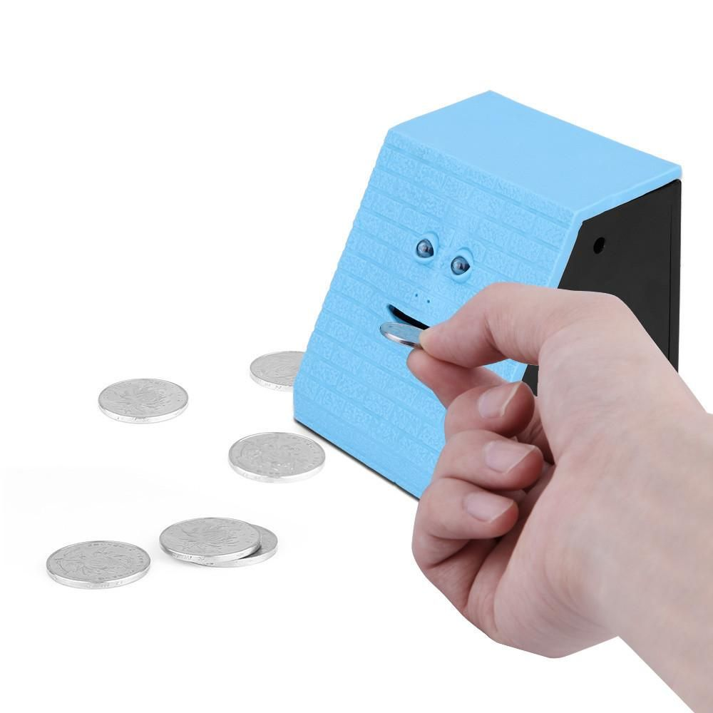 Alcancía Electrónica en forma de Cara Come Monedas CC