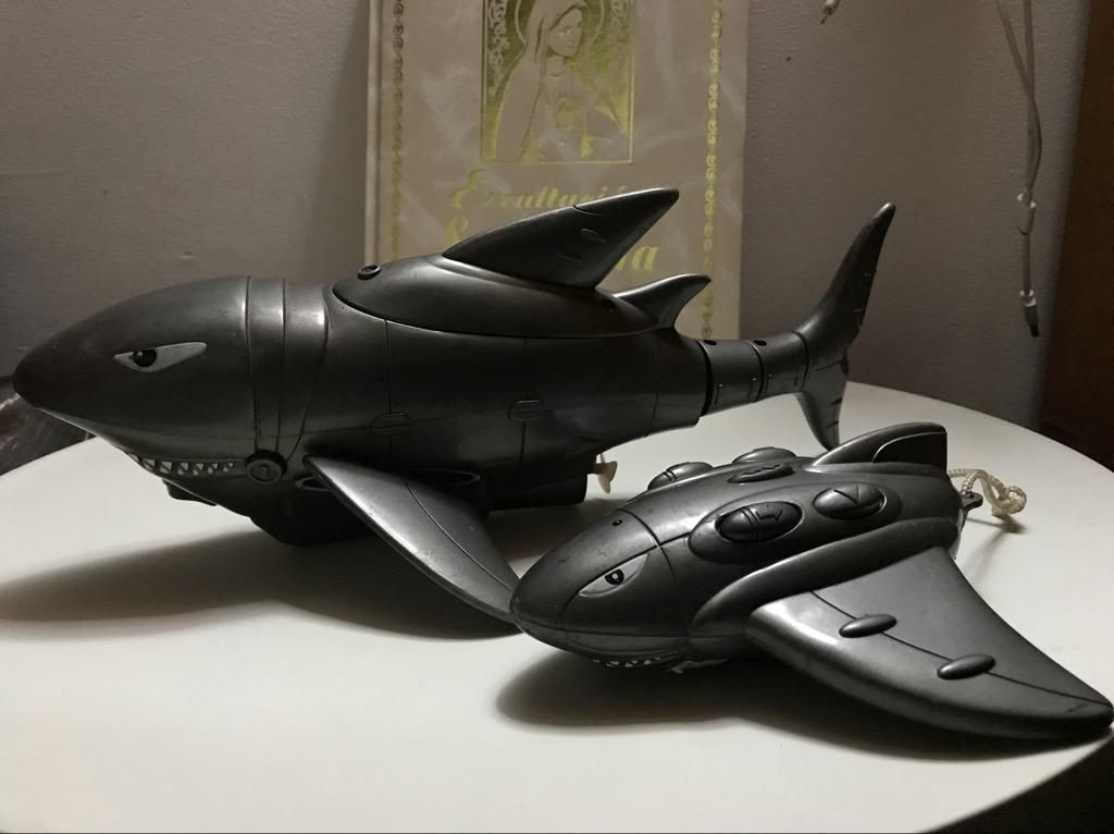 Juguete Submarino Tiburon Antiguo Contro