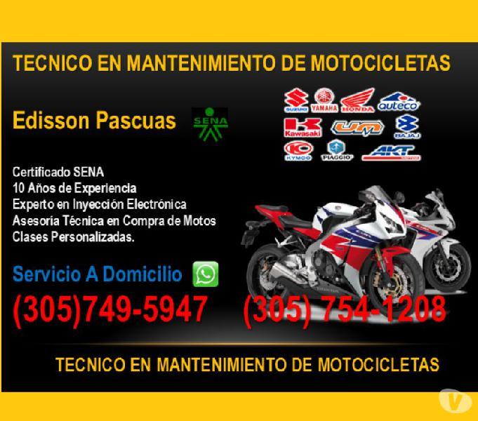 Mecanico de Motos a Domicilio en Bogota (Tenico SENA)