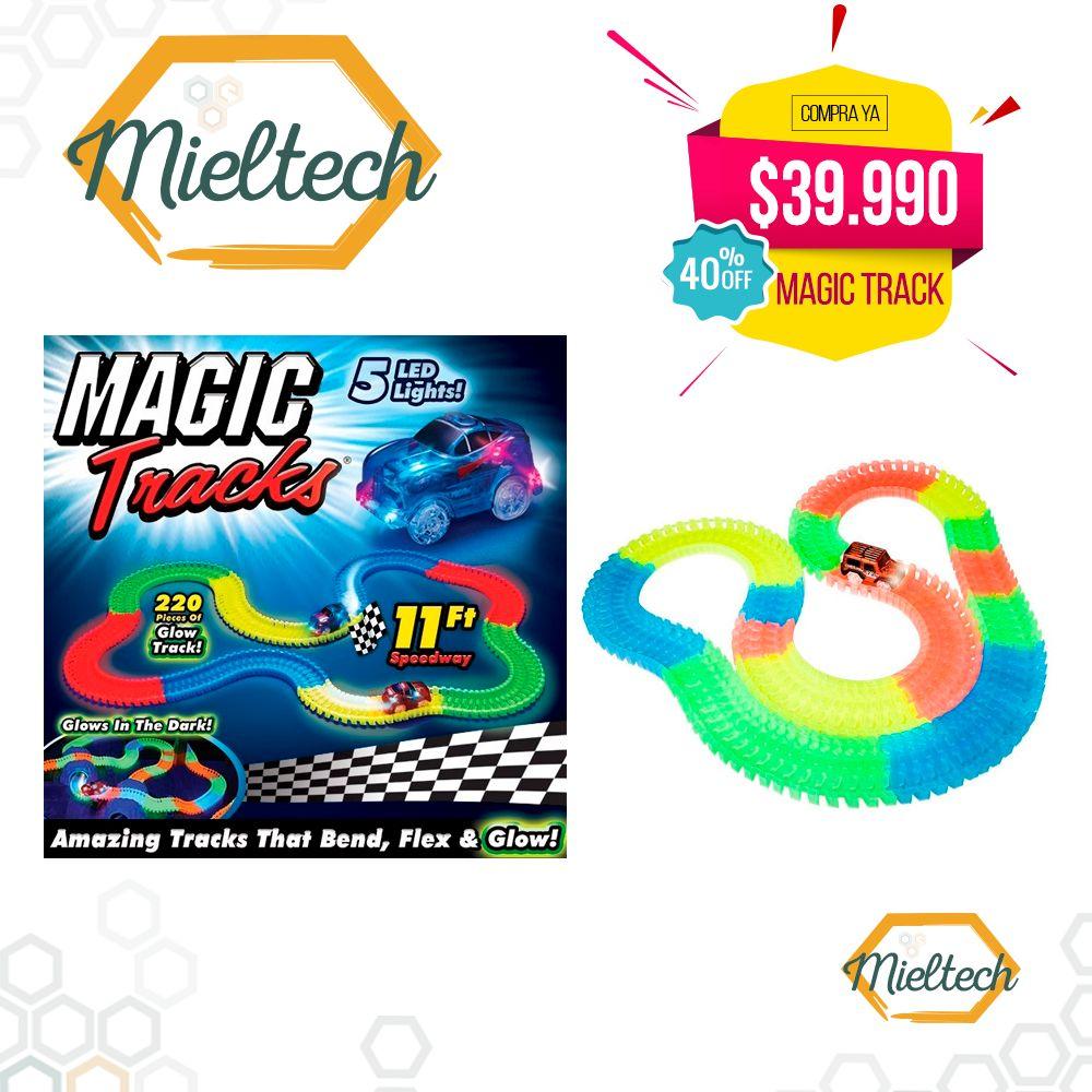 pista neon carros luminosos brilla flexible magic track 220