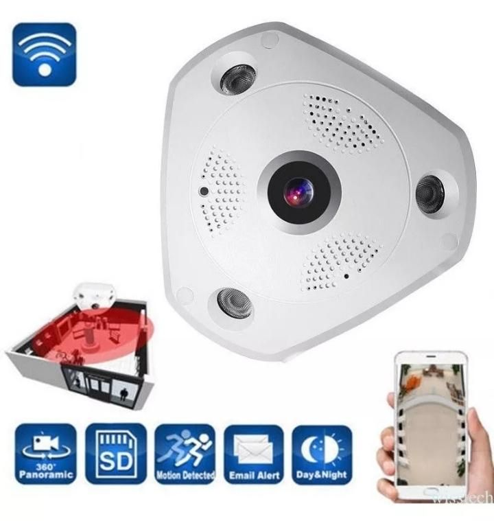 Camara de vigilancia IP wifi ojo de pez panorámica