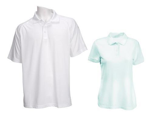 Camisetas Tipo Polo Blancas Para Hombre Y Mujer 220 Gramos