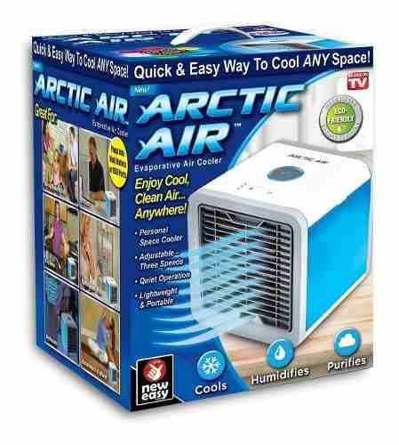 Mini Aire Acondicionado Portatil Arctic Air 3 En 1 Luz Led