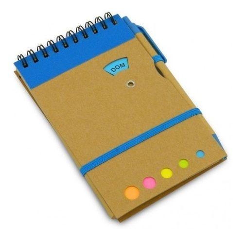 Agenda Ecologica #4 Marcamos Gratis 1 Tinta Logo Color Azul