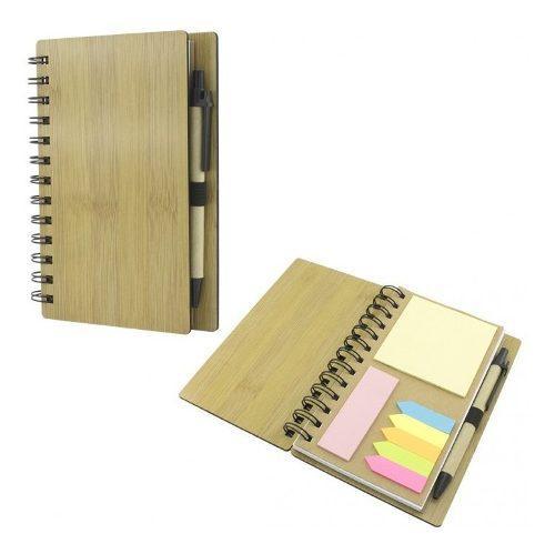 Agenda Ecologica Bambú #9 Marcamos Gratis 1 Tinta Un Logo