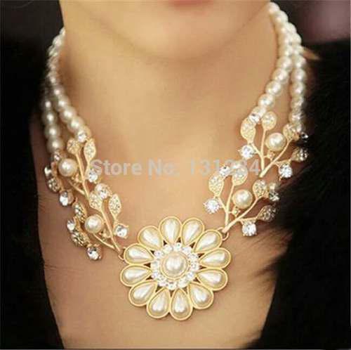 Collar Perlas De Lujo Mujer Regalo Gargantilla