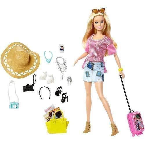 Barbie Pink Passport Muñeca De Vacaciones Accesorios Mattel