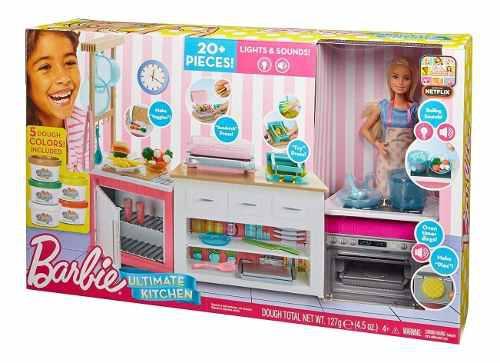 Barbie Ultimate Kitchen Cocina De Lujo Muñeca Y Accesorios