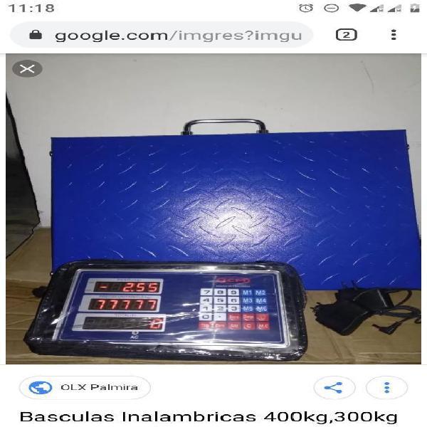Bascula Inalambrica 300,400kg Nuevacaja