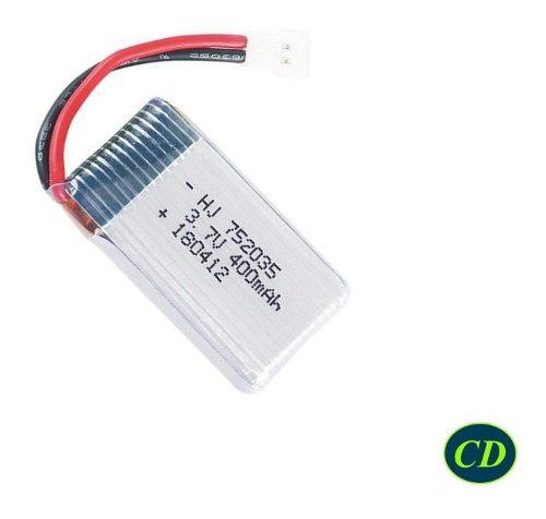 Bateria Polimero Litio 3.7v, 400mah 752035 Lipo Rc Drone 20c