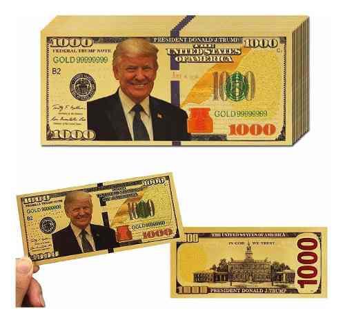 Billete De 10 Dólares De Donald Trump Billete De 1000 D...