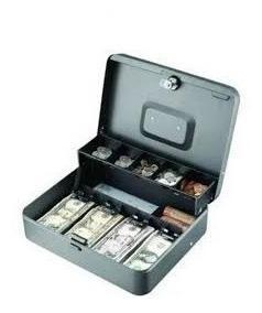 Caja Menor Seguridad Billetes Y Monedas Steelmaster Acero