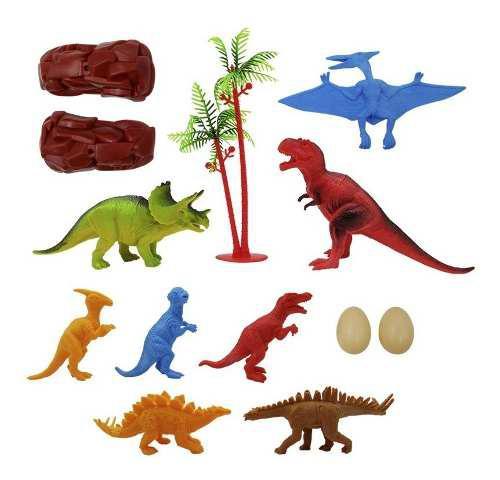Figuras Dinosaurios X8 + Accesorios Juego Niños Rf 032