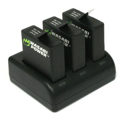 Kit Wasabi Baterías Triple Cargador Para Gopro Hero 7 6 5