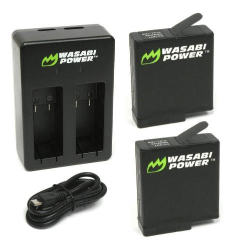 Kit Wasabi Baterías Y Cargador Para Gopro Hero7 Hero6 Hero5