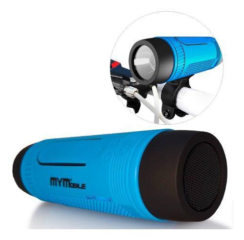 Parlante Bicicleta Bluetooth Linterna Radio Power Bank Andro
