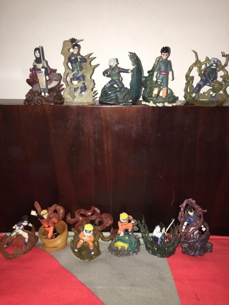 Set de 12 Mini Figuras de Naruto