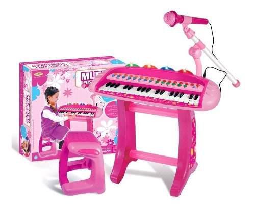 Piano Organeta Electrónica Musical Con Micrófono Ref